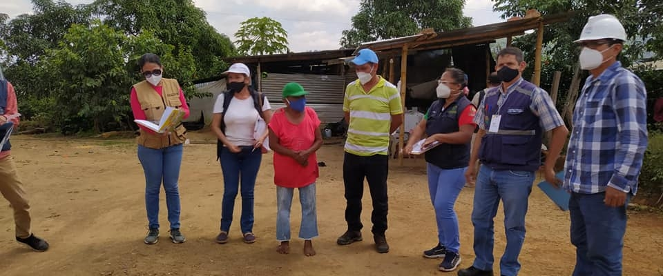 SE REALIZO LA INSPECCIÓN DE LOS SOLARES DONDE SERÁN CONSTRUIDAS CASAS A BENEFICIARIOS CON TERRENO PROPIO.